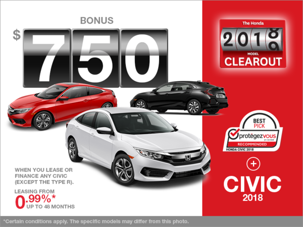Lease the 2018 Honda Civic!