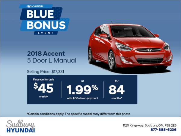 Get the 2018 Accent 5 Door!