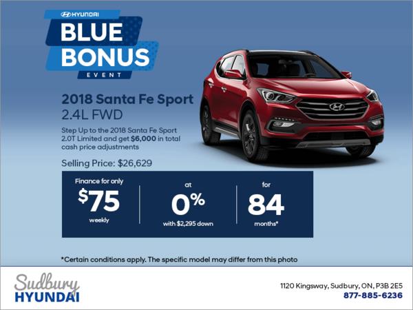 Get the 2018 Santa Fe Sport!