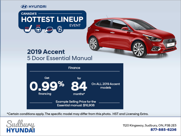 Finance the 2019 Accent 5 Door!