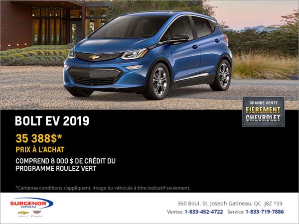 Procurez-vous le Chevrolet Bolt 2019!