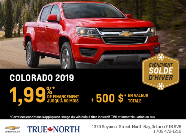 Financez le Chevrolet Colorado 2019