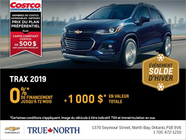Financez le Chevrolet Trax 2019