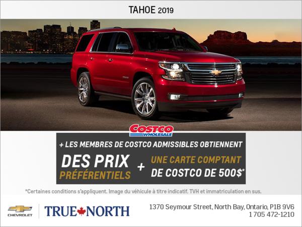 Obtenez le Chevrolet Tahoe 2019