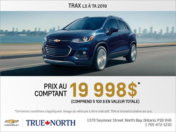Obtenez le Chevrolet Trax 2019