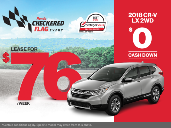 Get the 2018 Honda CR-V Today!