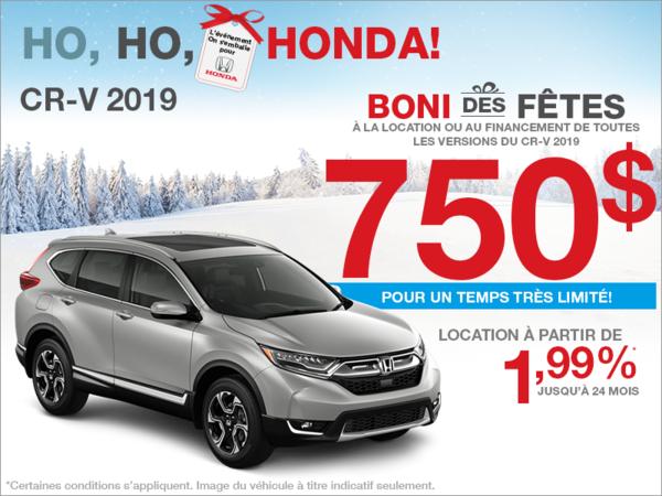 Boni des fêtes sur la Honda CR-V!