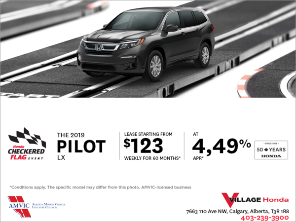 Get a 2019 Honda Pilot Today!