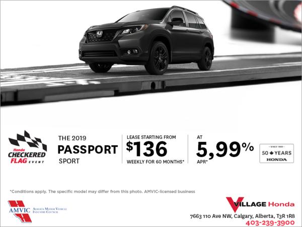 Get a 2019 Honda Passport Today!
