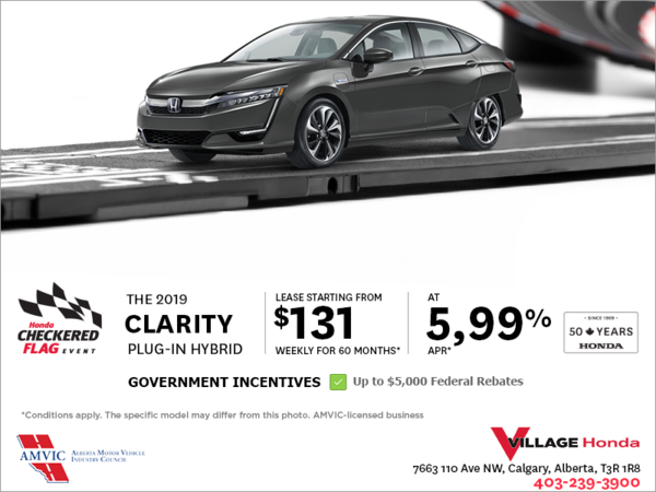 Lease the 2019 Clarity Plug-in Hybrid Today!