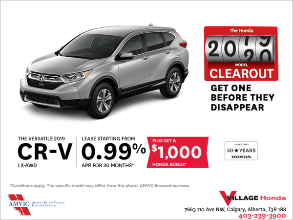 Get the 2019 CR-V Today!