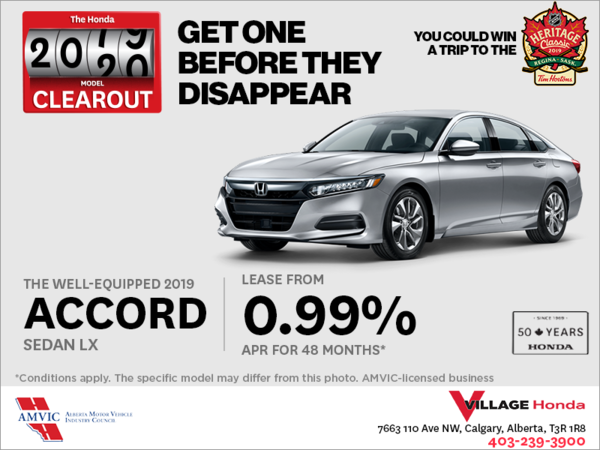 Lease the 2019 Honda Accord Sedan Today!