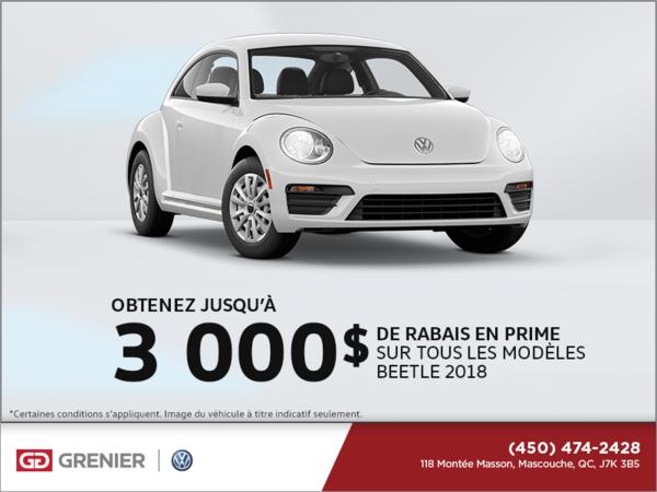 Obtenez la Beetle 2018!