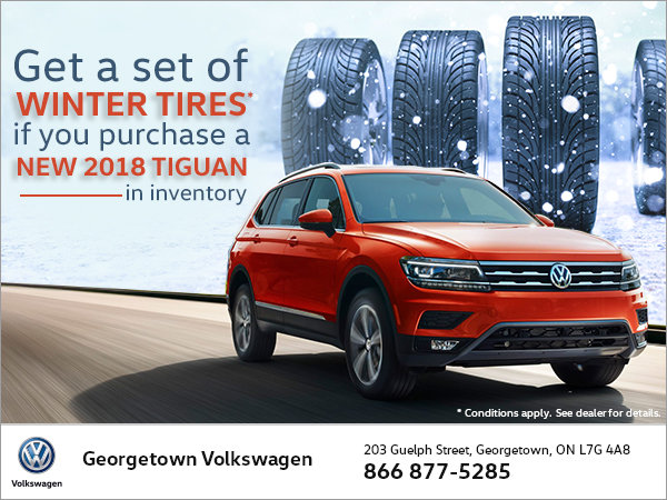 Get Winter Tires with Every New Tiguan Purchase!