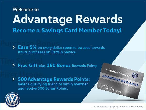 Volkswagen Jetta Lease >> Advantage Rewards Card | Lethbridge Volkswagen
