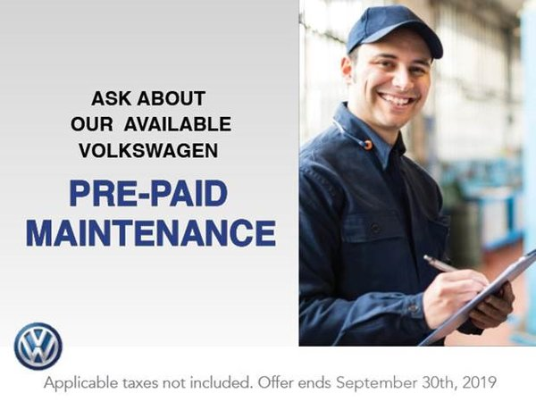 Ask About Our Available Volkswagen Prepaid Maintenance