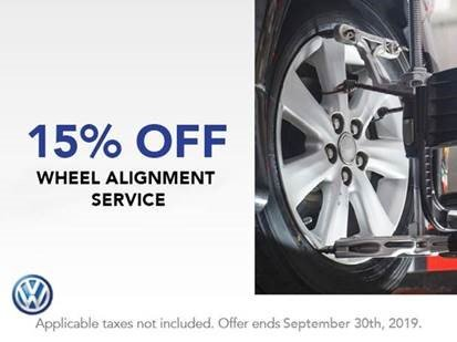 15% OFF Wheel Alignment Service