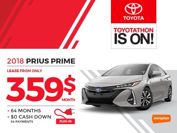 Prius Prime Lease >> 2018 Prius Prime Vimont Toyota Promotion In Laval