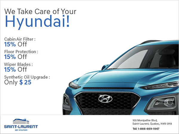 We Take Care of Your Hyundai!