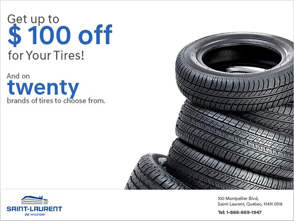 Get up to $ 100 off for Your Tires!