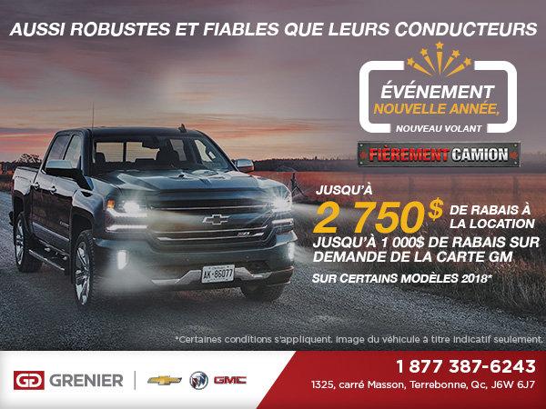 L'événement nouvelle année, nouveau volant - Chevrolet