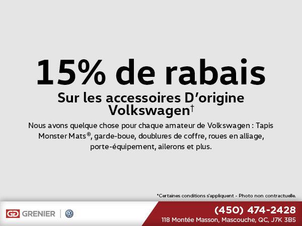 Rabais sur les accessoires d'origine Volkswagen!