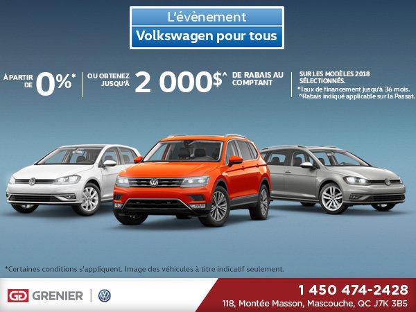 L'événement Volkswagen pour tous