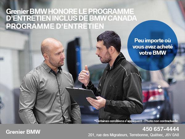 Programme d'entretien de BMW
