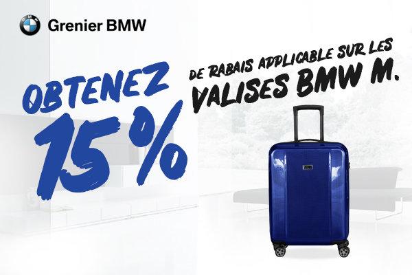 15% sur nos valises BMW M!