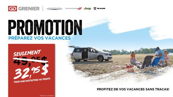 Promotion Préparez vos vacances !