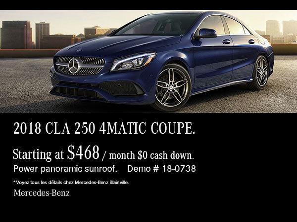 2018 Mercedes-Benz CLA 250 demonstrator