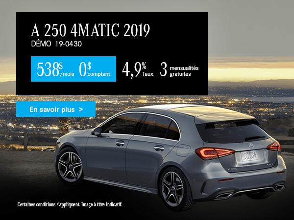 Louez la Mercedes-Benz A250 2019