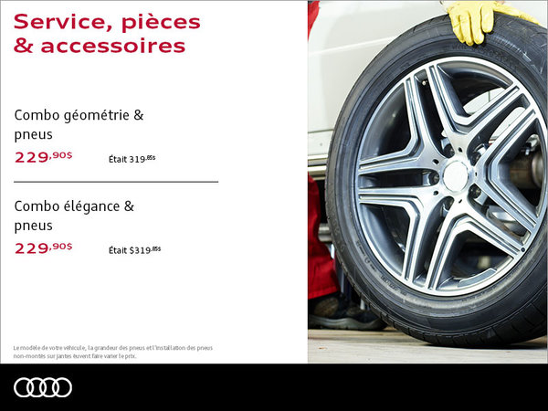 Combo installation des pneus