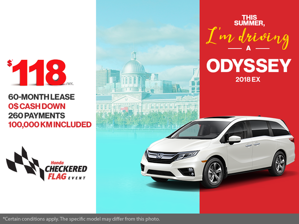 Lease the 2018 Honda Odyssey!
