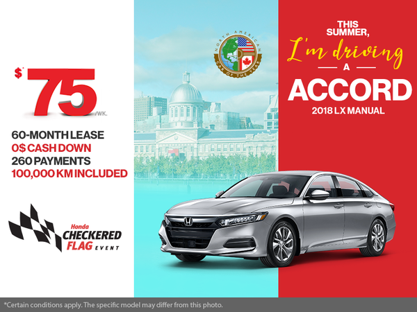 Lease the 2018 Honda Accord!