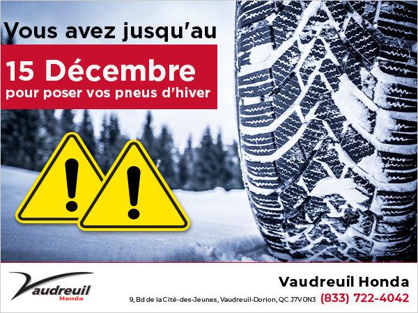 Alerte pneus d'hiver!