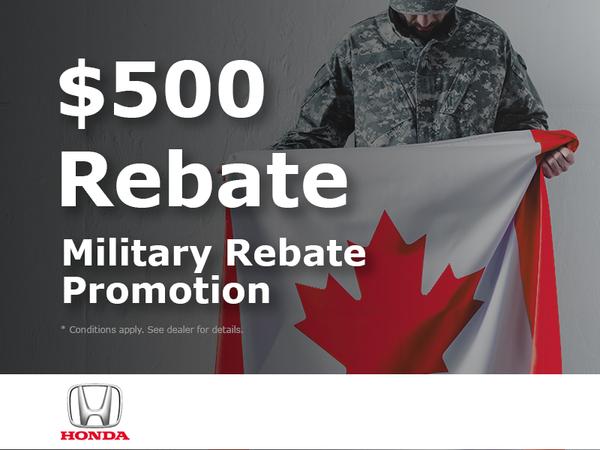 Forman Honda - Canadian Military Personnel Rebate
