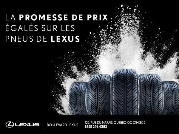 Prix égalés sur les pneus Lexus