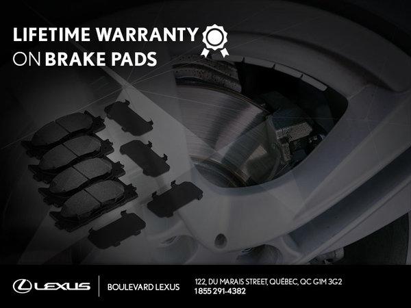 Lifetime Warranty on Brake Pads