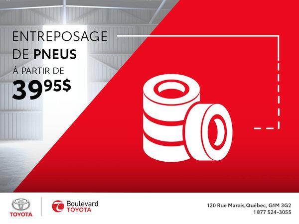 Entreposage de pneus à partir de 39,95$ : Tu veux ça!
