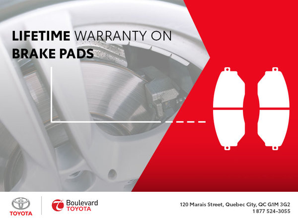 Lifetime Warranty on Brake Pads : You Want That!