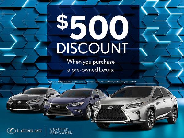 $500 discount!