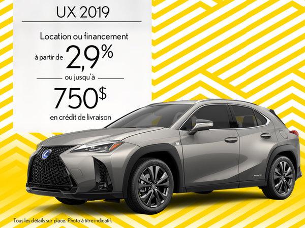 UX 2019 - promotion d'août