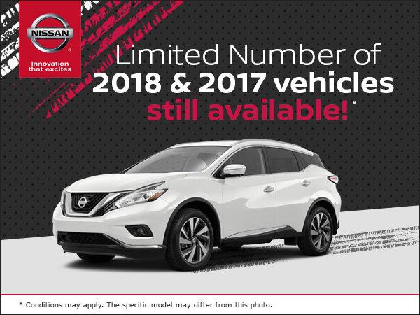 Jonker Nissan Clearance Event!