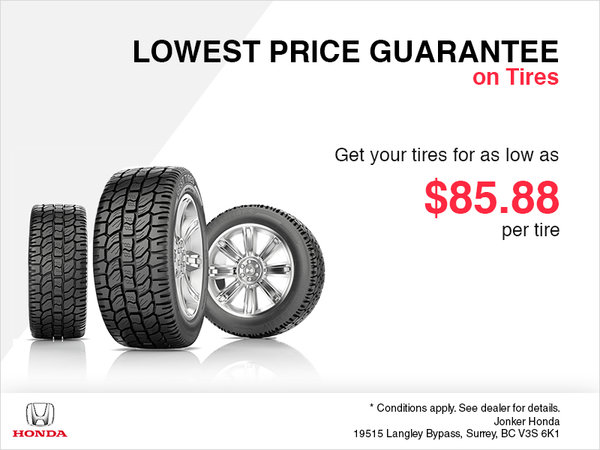 The Lowest Tire Price Guarantee