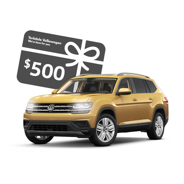 Buy an Atlas or Tiguan to get a $500 gift card!