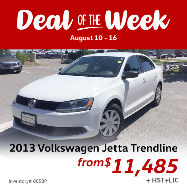 Save up to $500 / as low as $11,485 for this 2013 VW Jetta
