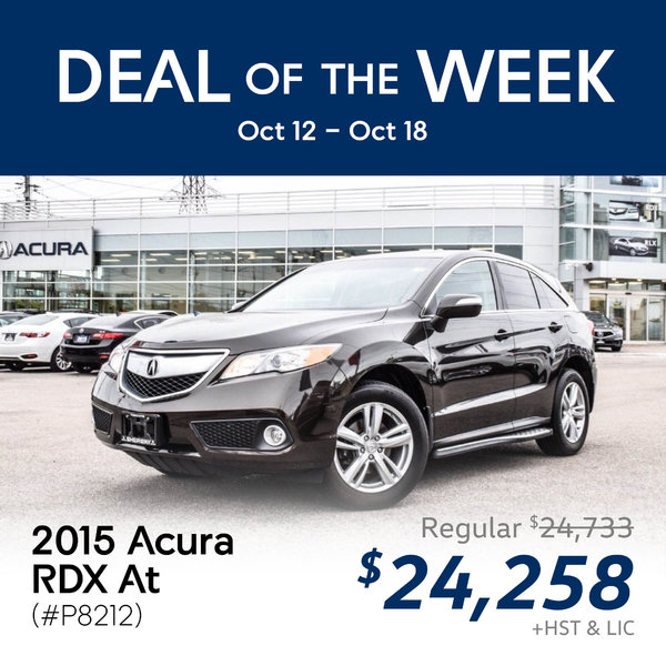 Deal of the Week: 2015 Acura RDX