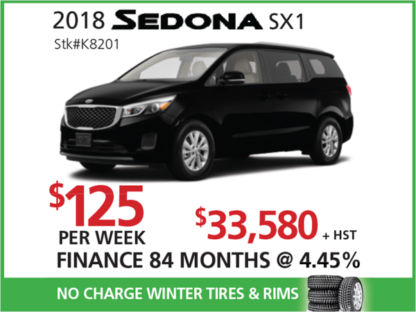 Kia Sedona SX+ Offer