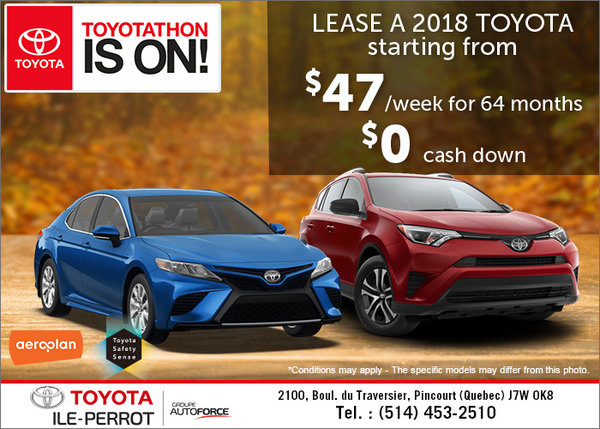 Toyota Ile-Perrot's Monthly Sales Event!